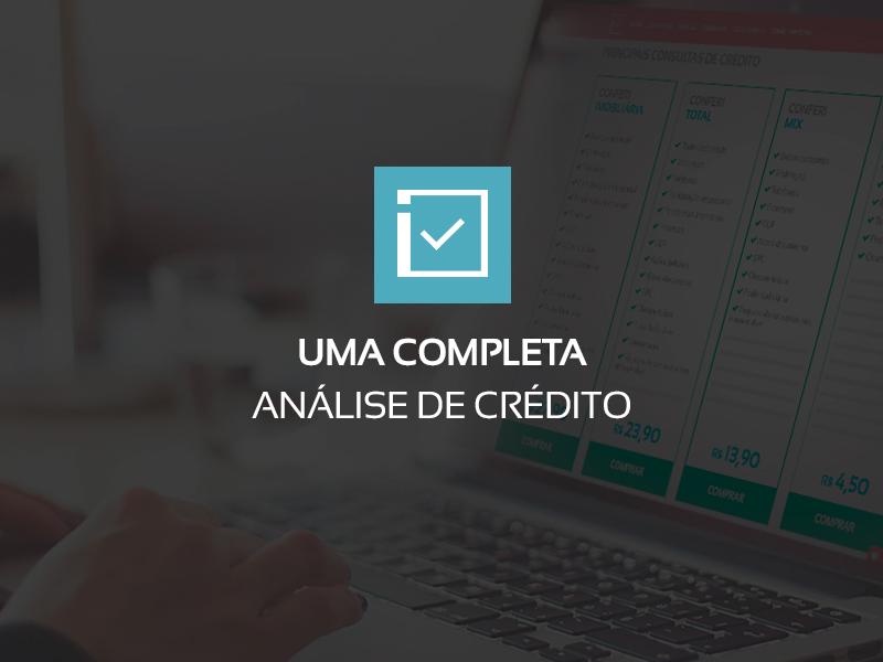 Uma completa análise de crédito