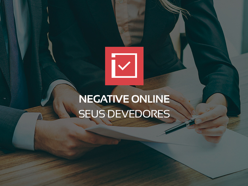 Negative online seus devedores
